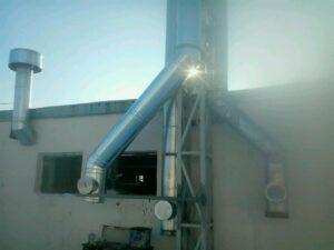 Установка дымовой трубы