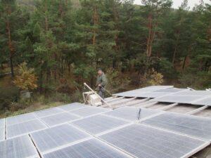 Сетевая фотоэлектрическая станция в п. Дудковка