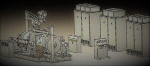 Стенд по випробуванню тягових двигунів електровозів