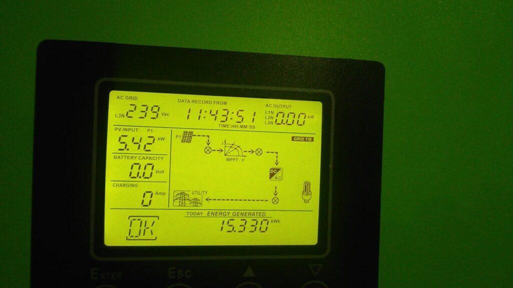 Гібридна фотоелектрична станція у Бірках