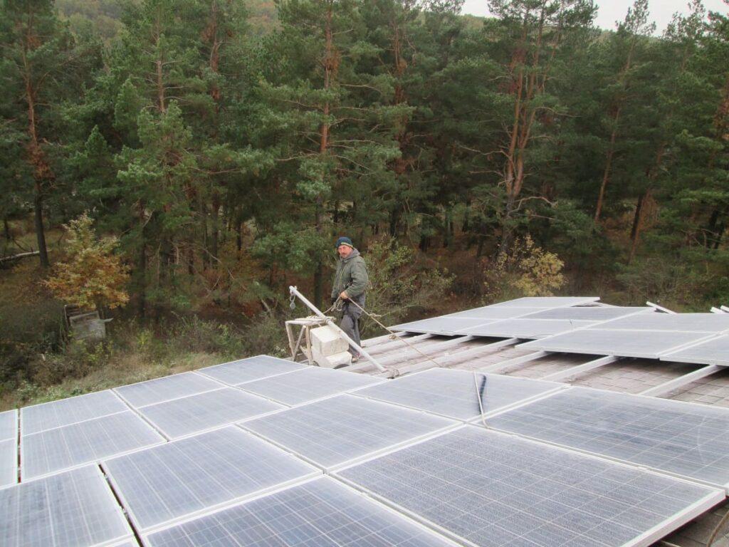 Солнечная электростанция в п. Дудкова