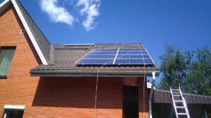 Установка фотоэлектрической станции в частном доме
