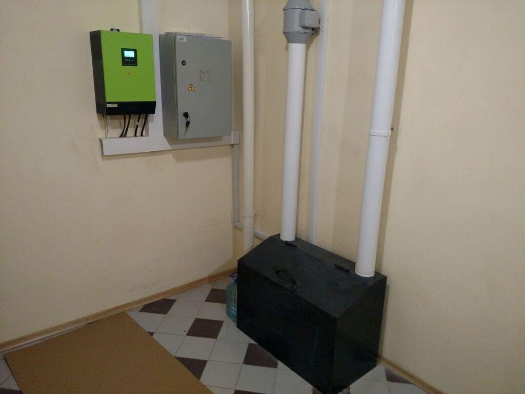 Установка фотоэлектрической станции